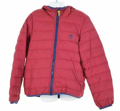 TIMBERLAND Boys Padded Jacket 7-8 Years Red Polyester