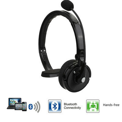 Noise Canceling Hand-Free Bluetooth Wireless Headset Headphone for Truck Driver