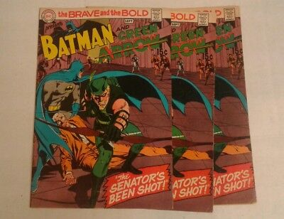 The Brave and the Bold #85 (Aug-Sep 1969, DC), 3 copies!, 1st New Green Arrow