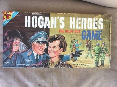 HOGAN'S HEROES THE BLUFF OUT 1966 Vintage TRANSOGRAM BOARD GAME - COMPLETE VG