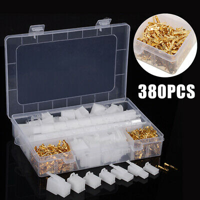 380pcs/set Car Motorcycle Electrical 2.8mm 2 3 4 6 Pins Wire Terminal Connector