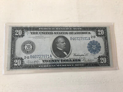 1914 $20 Federal Reserve Note New York