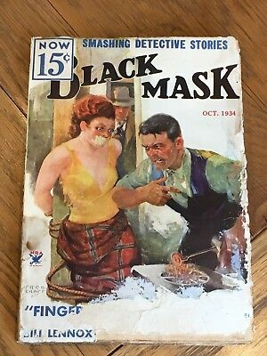 Black Mask - US Mystery Pulp Oct.1934 contains 'Finger Man' by Raymond Chandler