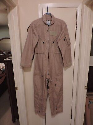 New Military Cwu-27/p Fr Nomex Aramid Flyers Flight Suit Coveralls 38 S Army