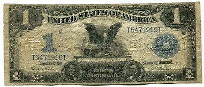 1899 $1 Black Eagle Silver Certificate, Very Good VG