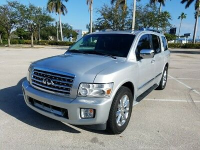 2010 Infiniti QX56 5.6L V8 2010 INFINITI QX56  SILVER OVER BLACK 3RD ROW SEATING BENCH SEAT PACKAGE
