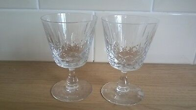 A Stunning Pair of Edinburgh Crystal  Appin Claret Wine Glasses 10.5cm