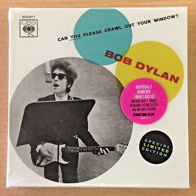 "Bob Dylan - RSD 7"" Single Box Set - Can You Please Crawl Out Your Window? - New"