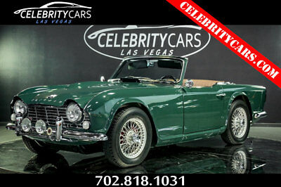 Triumph TR4  1965 Triumph TR4 roadster fully restored 2 dr Convertible manual  RACING GREEN!