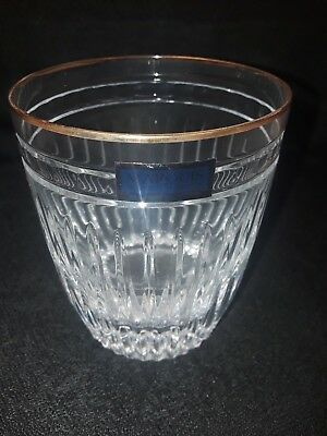 WATERFORD (MARQUIS) HANOVER GOLD Double Old Fashioned Glass
