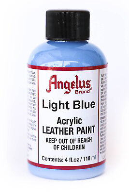 Angelus Brand Acrylic Leather Paint Waterproof Light Blue - 4.oz