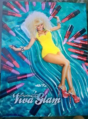 MAC Cosmetics Nicki Minaj Viva Glam Sticker - Post Card Promo Collectors Item