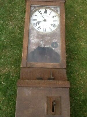 Antique Blick clocking in machine in original unrestored condition.