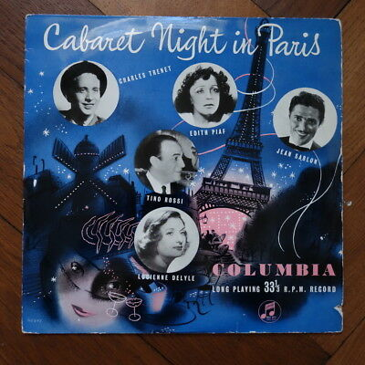"VARIOUS V/A ""cabaret night in paris"" UK COLUMBIA 10"" LP 1954"