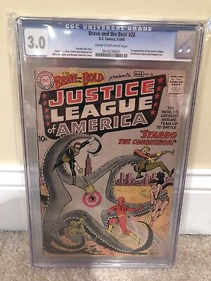 Brave And The Bold #28 CGC 3.0!  1st Justice League Of America!