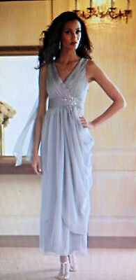 Nwt Lt. Mocha Midnight Velvet Draped Goddess Wedding Mob Cocktail Prom Dress 16
