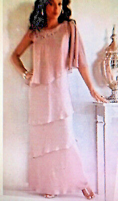Nwt Midnightvelvet Mauve Pink Artichoke Column Evening Gown Plus Dress 2Ow