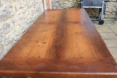 Stunning 7ft (220cm) Solid Oak French Farmhouse Refectory Table by Antix