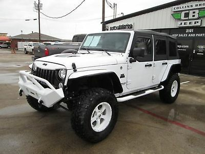 Jeep Wrangler Unlimited Sport 2017 White Sport BLACK MOUNTAIN CONVERSION