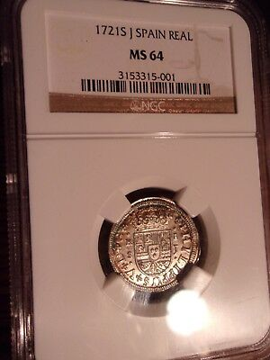 Beautiful Ngc Ms-64 1721 S J Spain/spanish Real-Looks Amazing!