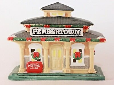 Vintage 1995 Coca Cola Pembertown Train Depot (American Classics Collection)
