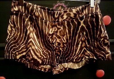 H&M Spring or Summer Time Animal Printed Hot Pants Shorts Silk Blend size 4