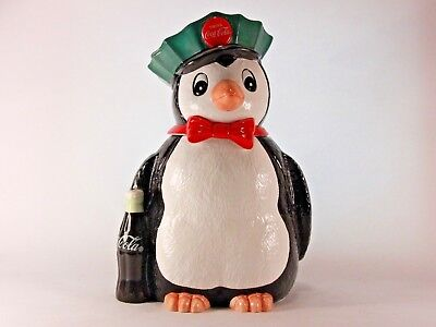 Vintage 1997 Coca-Cola Penguin Cookie Jar