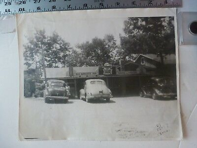Vintage Photo-Woman Standing Outside At Old Ranger Inn Allentown Pa 1930's