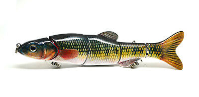 "6.5"" Multi Jointed Bass Pike Muskie Fishing Lure Bait Swimbait Life-like"