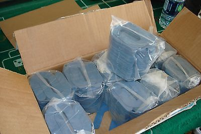 "CRL Blue 1/16"" x 3"" Plastic Horseshoe Shims 1000 Pack PHS16"