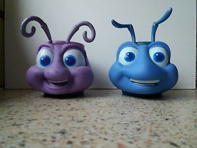 A Bug's Life Flick and Dot cups mugs collectable vgc