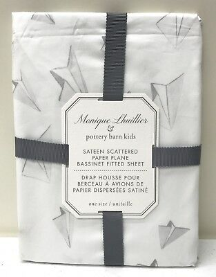 Pottery Barn KIDS Monique Lhuillier Scattered Paper Plane Fitted Bassinet Sheet