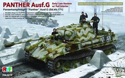 1/35 Rye Field Models Sd.Kfz.171 Panther G Late w/ Full Int & Clear Hull RFM5016