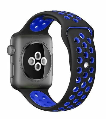 Replacement Sport Band Strap For Nike+ Apple iWatch Watch 1 2 3 Black Blue 42mm