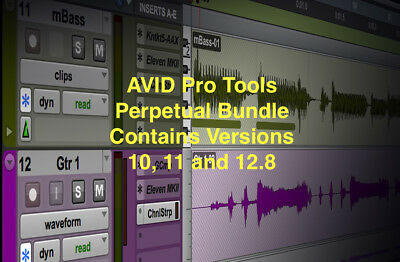 Avid Pro Tools - ProTools 10/11/12 USED PERPETUAL LICENSE w/ Version 3 iLok 2018