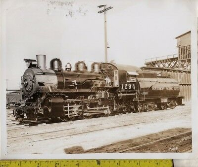 Vintage Photograph c1900 Southern Pacific Lines Locomotive No. 1294 At Station