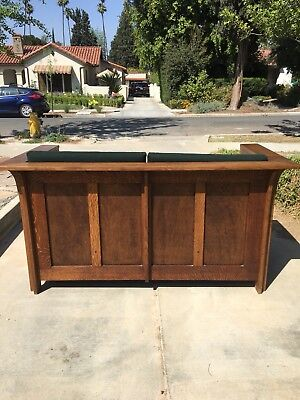 Mission Oak Cube Settle Love Seat Couch arts and crafts window seat bench