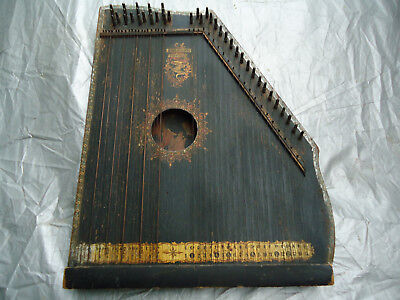 Vintage Antique American Mandolin Guitar Zither Harp pat. 1894