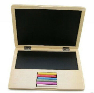 Blackboard wooden Toy Laptop ,Kids Toy Computer chalk board , Old school fun