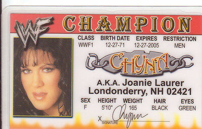 Wwf Wcw Collectors Drivers - Wrestling Chyna Card Picclick 97 License Wwe Novelty 2