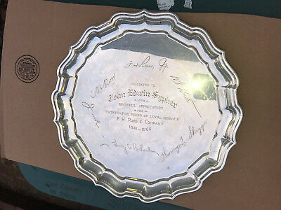 "HEAVY Reed and Barton Sterling Silver Tray, X365 Chippendale 12"" round scalloped"