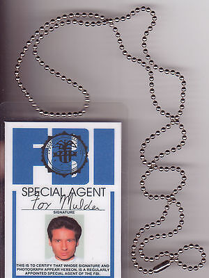 Halloween Costume Item Fox Mulder Xfiles X-Files BADGE ID Identification Card