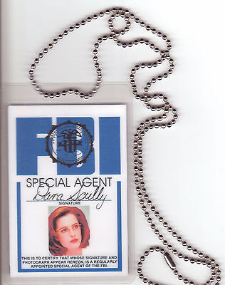 Dana Scully Xfiles X-Files BADGE ID card Identification Halloween Costume Item
