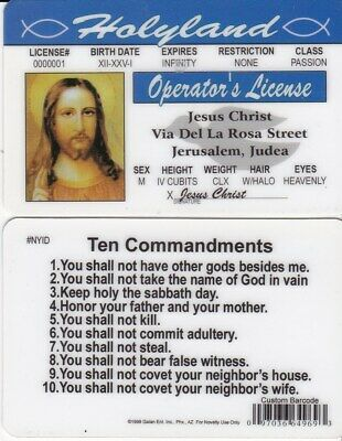 Lord Jesus Christ  HOLYLAND treasure care with the Ten Commandments on back
