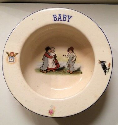 Vintage baby or Child's Plate Dish Bowl Rolled Edge Czechoslovakia