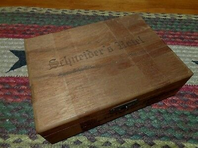 Vintage Schneiders Hotel Catasauqua Pa Wooden Cigar Box Wood
