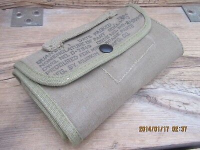 100%Ori WWII WW2 D-Day 1944 M1 Garand Carbine 1911 M1919 Spare Parts Pouch Roll