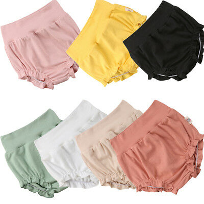 Newborn Baby Girls Cotton PP Shorts Pants Nappy Diaper Cover Bloomers Panties US