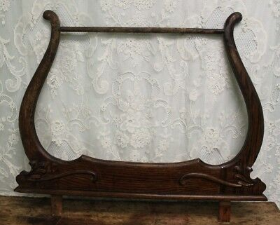 Antique Salvaged Oak Wash Stand Towel Bar ** For Restoration Projects **