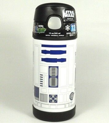 """NEW Thermos Disney Star Wars R2D2 FUNtainer 7"""" Bottle Stainless Steel Insulated"""